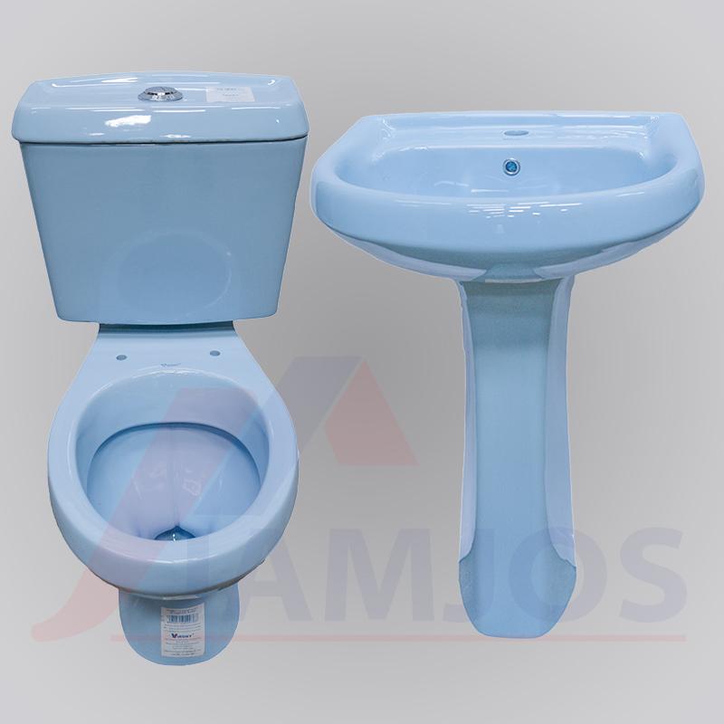 Fabulous Virony Dual Flush Close Couple Toilet Blue Creativecarmelina Interior Chair Design Creativecarmelinacom